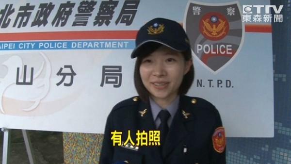 野柳派出所亮點 8年級「警界郭雪芙」陳裔姁報到