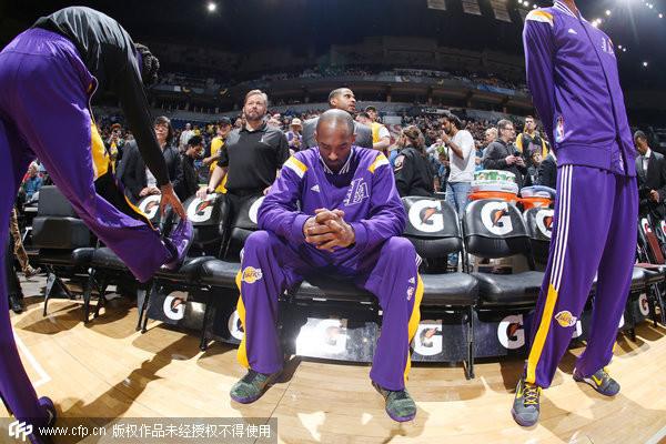NBA/Kobe破紀錄振奮湖人士氣 作客溜馬挑戰4連勝