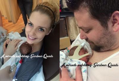 人工受孕成功,不孕症媽媽誕下4胞胎
