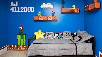 房間變電玩世界,我想當Mario撞蘑菇~