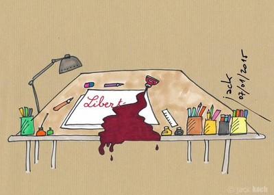 原諒我愛自由,畫家用筆桿挺查理周刊