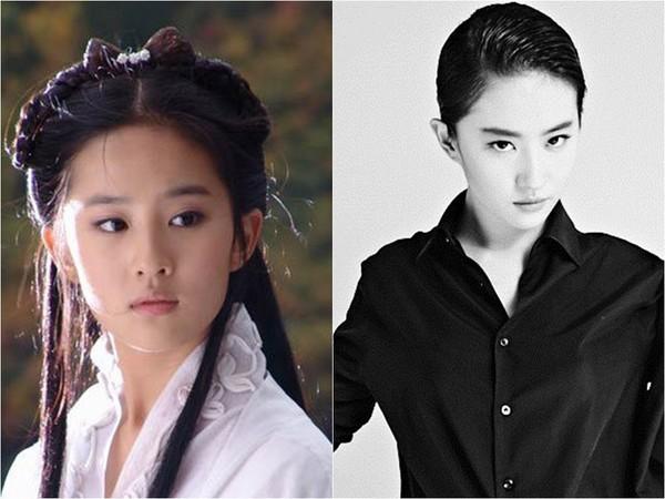 劉亦菲、賴雅妍、李冰冰都是「帥女星」代表。(圖/新浪娛樂、取自鄧超微博)