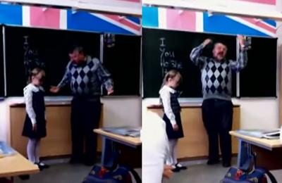 女童不會念YOU被老師戳額,最後反擊