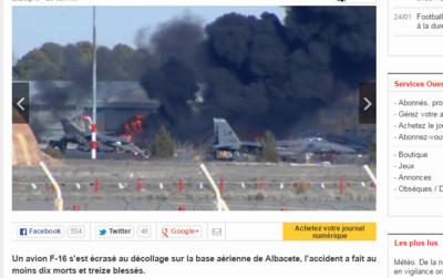 希臘F-16墜毀 10死21傷