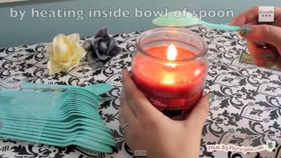拋棄餐具用完別扔,燒一燒竟綻放花朵