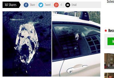 車窗上落鳥屎 白色耶穌像帶好運