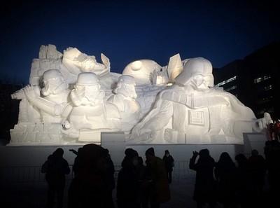 星際迷快朝聖,札幌雪祭黑武士來助陣