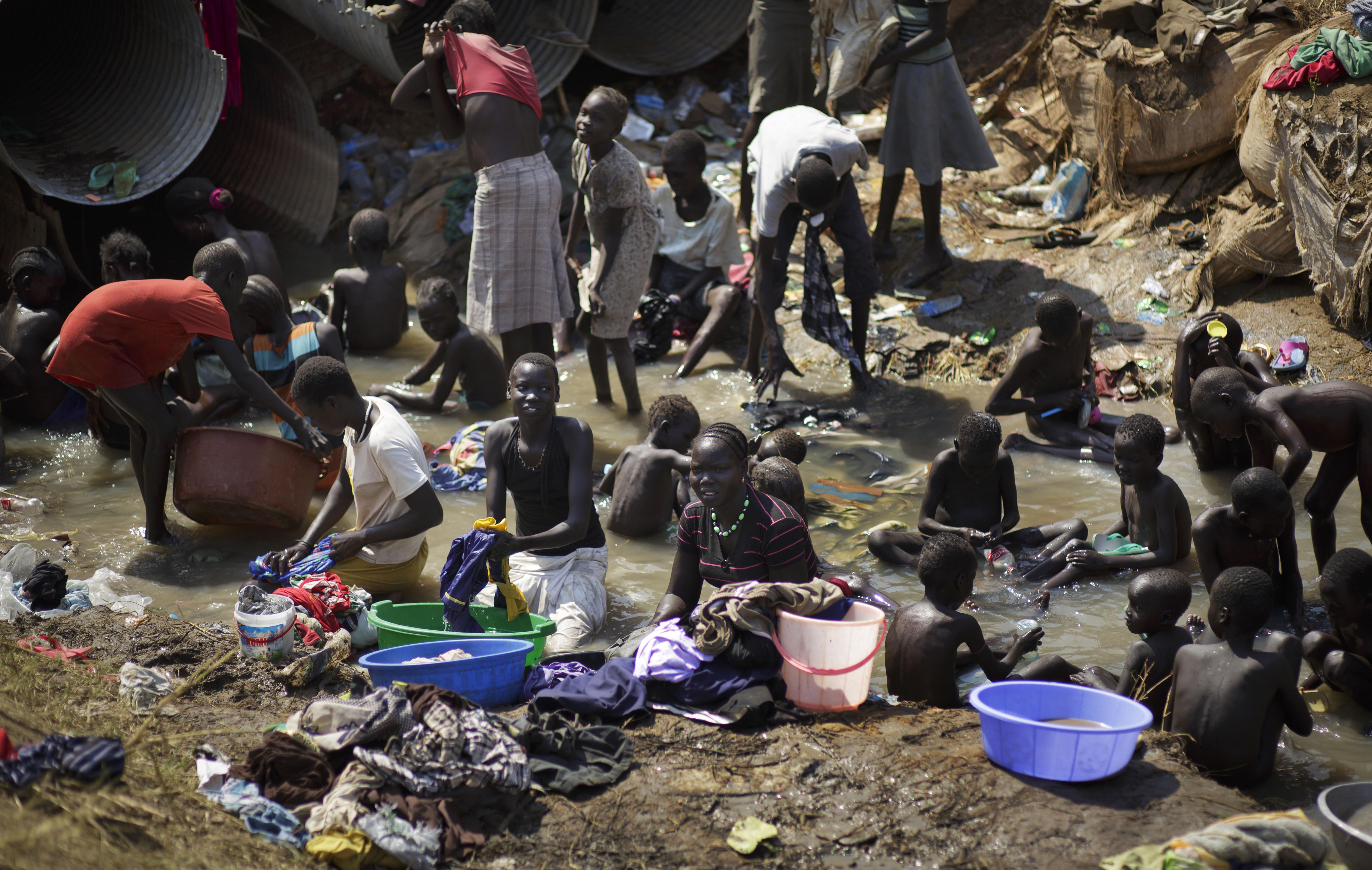 ▲南蘇丹戰火不斷,估計全國上下有超過150萬人流離失所,佔全國人口一半以上。(圖/達志影像/美聯社)