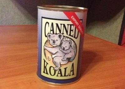 朋友從澳洲帶回無尾熊罐頭…該打開嗎