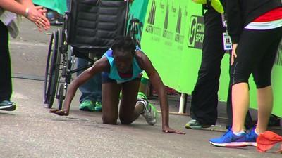 比賽到一半低血糖,跑者堅持爬到終點