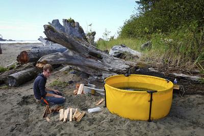 攜式摺疊浴缸,整個野外都是你泡湯池