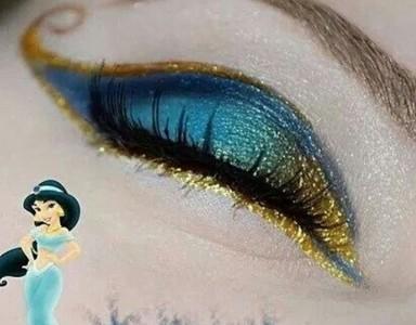畫上迪士尼公主眼妝,眨眼就魅壓眾人