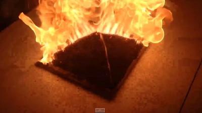 10小時疊火柴金字塔,燃燒驚見印和闐