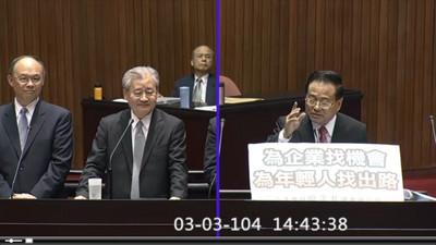廖正井提議公務員調薪3% 毛治國:編預算前決定