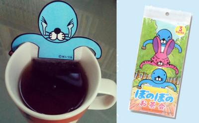 無法放鬆...喝個萌海豹茶包像是放血