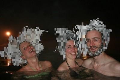 -30℃泡溫泉,溼髮結冰變蛇髮女妖!