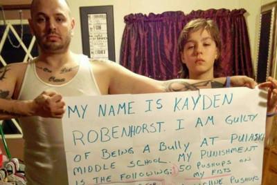 兒子拳頭欺負同學,父親網路霸凌道歉