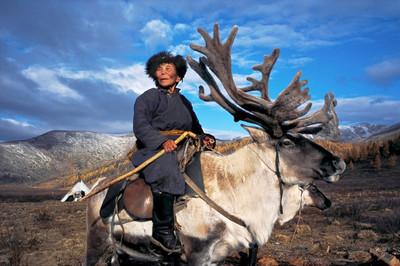 蒙古杜科哈少數民族,全靠馴鹿過生活
