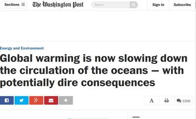 華盛頓郵報/《明天過後》成真?全球暖化讓洋流變慢
