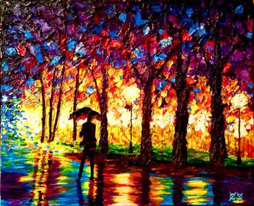 色彩細膩油彩畫畫家,竟然是一位盲人